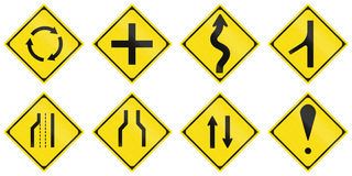 Collection of Japanese warning road signs Royalty Free Stock Image