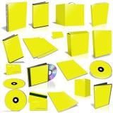 Collection jaune de couverture 3d vide Photo stock