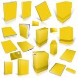 Collection jaune de couverture 3d vide Image stock
