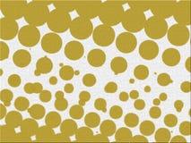 Collection jaune de vecteur de textures de bulles de résumés Image libre de droits