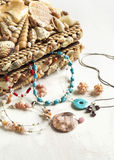 Collection of jewelry in jewelry box. Royalty Free Stock Photo