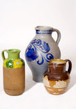 Collection of jugs Royalty Free Stock Photo
