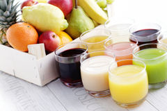 Collection of juice Royalty Free Stock Photos