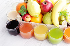 Collection of juice Stock Photography