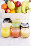 Collection of juice Stock Image