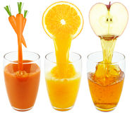 Collection juices Royalty Free Stock Photo