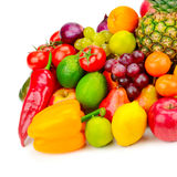 Collection juicy fruits and vegetables Royalty Free Stock Photo