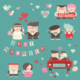 Collection of just married couples Stock Image