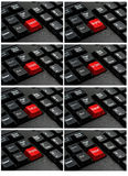 Collection of keyboard with the word  written on a button. Royalty Free Stock Image