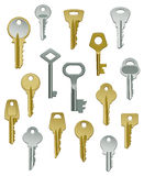 Collection of Keys - Set Two Royalty Free Stock Photos