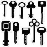 Collection of keys Stock Photo
