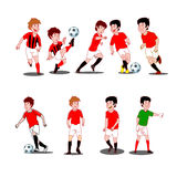 Collection of kids playing soccer Stock Photography