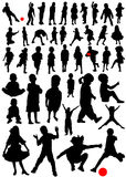 Collection of kids vector Royalty Free Stock Photos
