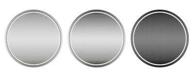 A Collection Of 3 Kinds Of Tags, Metalline.  vector illustration