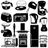 Collection of kitchen appliances Royalty Free Stock Image