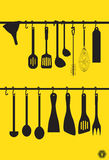 A collection kitchen utensils Stock Images