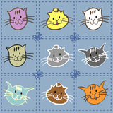Collection of kittens Royalty Free Stock Image