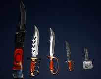 Collection of knifes Stock Images