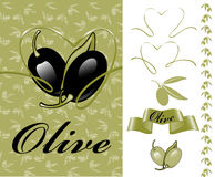 Collection for the label. olives. Stock Image