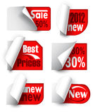 Сollection of labels Royalty Free Stock Photos