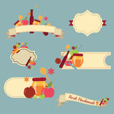 Collection of labels and elements for Rosh Hashanah (Jewish New Year) Stock Images