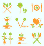 Collection of Labels Healthy Eating Royalty Free Stock Photography