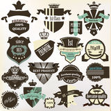 Collection of labels  premium, best, high and genuine quality in Royalty Free Stock Images