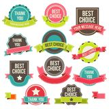 Collection labels and ribbons. Collection of labels and ribbons.Vector design elements Royalty Free Stock Image