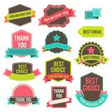 Collection labels and ribbons Royalty Free Stock Photography