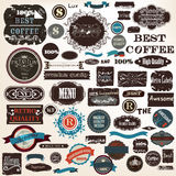 Collection labels set premium quality in grunge style Royalty Free Stock Image