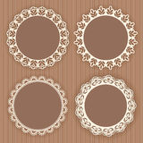 Collection lace frames. Royalty Free Stock Image