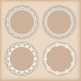 Collection lace frames. Royalty Free Stock Photography