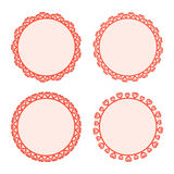 Collection lace frames. Royalty Free Stock Photo