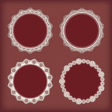 Collection lace frames. Stock Image