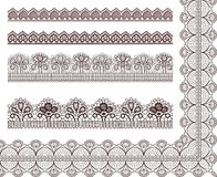 Collection lace pattern Royalty Free Stock Photo