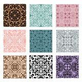 Collection of lace patterns Stock Photography