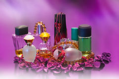 Collection of ladies perfumes Royalty Free Stock Photos