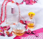Collection of ladies perfumes Royalty Free Stock Images