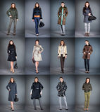 Collection lady's clothes Stock Photography