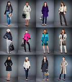 Collection lady's clothes Royalty Free Stock Photo