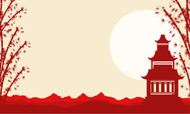 Collection landscape of pavilion Chinese theme Royalty Free Stock Photography