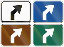 Collection of lane direction signs of the United States MUTCD Stock Photography
