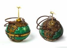Collection lantren . Vintage kerosene oil lantern lamp on isolat Stock Images