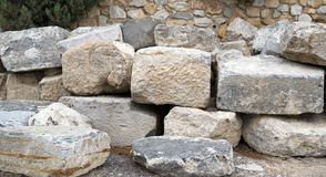 Collection of large stones on top of each other stock image