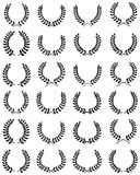 Collection of laurel wreaths Stock Photos