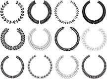 Collection of Laurel Wreaths Royalty Free Stock Photography