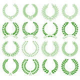 Collection of laurel wreaths Stock Photography