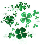 Collection of leaf clover royalty free illustration