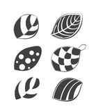 Collection of leaf design elements Stock Photography
