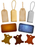 Collection of leather and jeans labels and tags Royalty Free Stock Photo